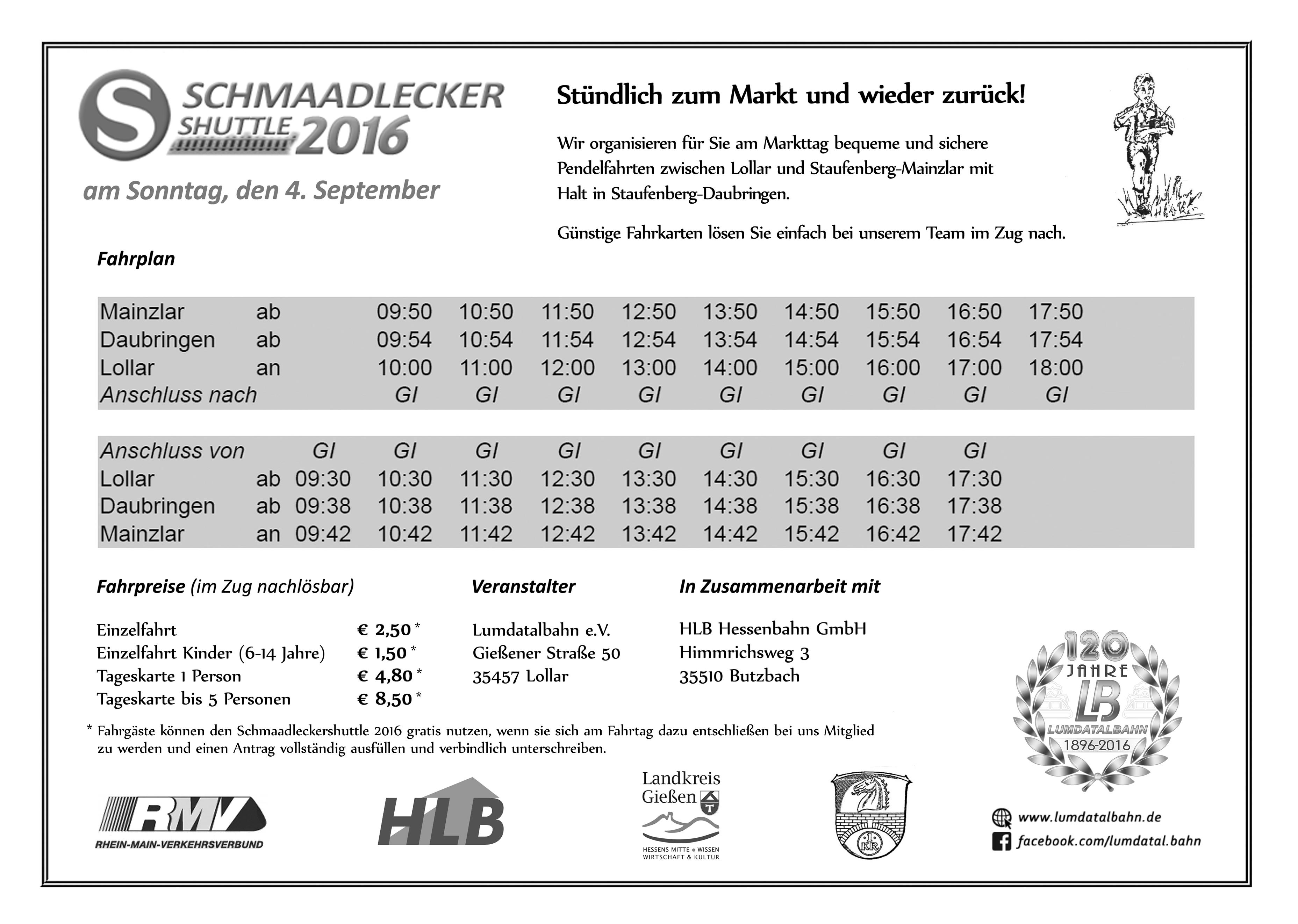 Plakat Schmaadleckershuttle